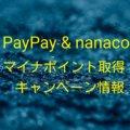 【PayPay・nanaco】マイナポイント取得の流れ、キャンペーン情報紹介