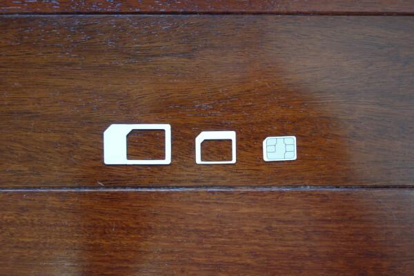 3つのSIMサイズ