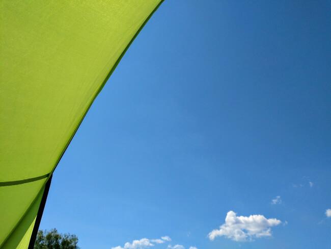 テントからの風景